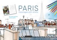 Paris carnet coloriages cartes postales