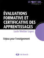 EVALUATIONS FORMATIVE ET CERTIFICATIVE DES APPRENTISSAGES