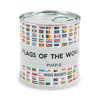 FLAGS OF THE WORLD PUZZLE MAGN