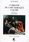 Origine de l'art baroque à Rome (L'), Tirage 2005