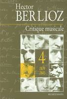 Critique musicale., Volume 4, 1839-1841, Critique musicale, 1823-1863