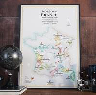 Affiche Wine Map of France