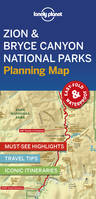 Zion  Bryce Canyon National Parks Planning Map - 1ed - Anglais