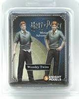 harry potter figurine 35mm adventure pack fred & george