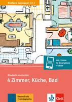 4 ZIMMER, KUCHE, BAD (NIVEAU A12) - LIVRE + MP3 TELECHARGEABLE