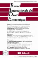 REVUE INTERNATIONALE DE DROIT ECONOMIQUE 2007/1
