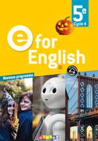 E for English 5e (éd. 2017) - Livre