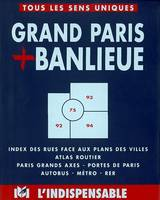 Grand Paris et banlieue, B26 / index des rues face aux plans des villes, atlas routier, Paris grands