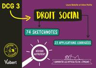 DCG, 3, Droit social, 74 sketchnotes, 25 applications corrigées