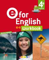 E for English 4e, cycle 4, A2-B1 / workbook