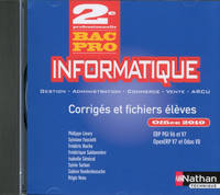 Informatique 2ème Bac pro office 2010 PGI (G-A Commerce Vente ARCU) CD ROM - professeur - 2016