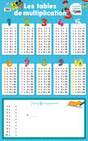 Les posters ardoises - Les tables de multiplication