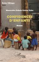 Confidences d'enfants, Roman