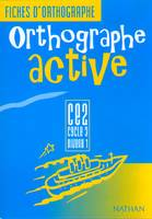 Orthographe active, CE2, cycle 3, niveau 1