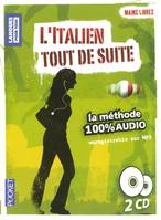 Coffret Mains libres L'italien Tout de suite 100% audio (2CD)