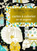 Cartes à colorier or et argent