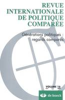 REVUE INTERNATIONALE DE POLITIQUE COMPAREE 2009/2 VOLUME 16, Générations politiques : regards comparés