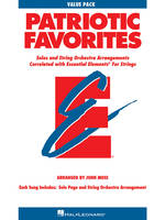Patriotic Favorites for Strings, Value Pak - 24 part books, conductor score and CD