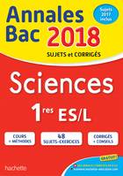 Annales Bac 2018 - Sciences 1ères L/ES
