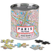 Paris city puzzle magnets