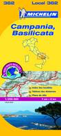 Carte Michelin Local Italie n 362 - Campania Basilicata