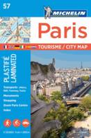Paris par arrondissement - tourisme / city map plastifiée - 1/20000