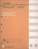 Papier Tablature Guitare