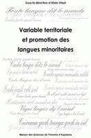 Variable territoriale et promotion des langues minoritaires
