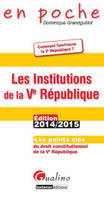 Les institutions de la Ve République / les points clés du droit constitutionnel de la Ve République