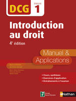 Introduction au Droit - DCG 1 - Manuel et applications, Format : ePub 2