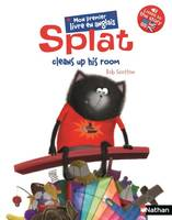 Splat cleans up his room