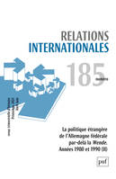 relations internationales 2021, n.185