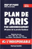 R14 Plan de paris par arrondissements (bleu)