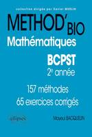 METHOD'BIO MATHEMATIQUES BCPST 2E ANNEE 157 METHODES 65 EXERCICES CORRIGES