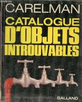 Catalogue d'objets introuvables.