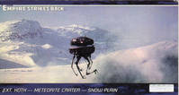 Star Wars - Topps - Empire Strikes Back - Widevision - #2 Ext. Hoth - Meteroit Crater - Snow Plain