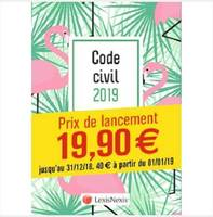 Code civil 2019 / motif flamand rose