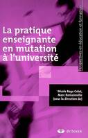 PRATIQUE ENSEIGNANTE EN MUTATION A L'UNIVERSITE