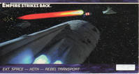 Star Wars - Topps - Empire Strikes Back - Widevision - #19 Ext. Space - Hoth - Rebel Transport