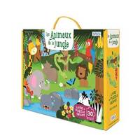 LES ANIMAUX DE LA JUNGLE - PUZZLE GEANT