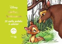 Cartes à colorier Disney Bébés animaux, 20 cartes postales à colorier