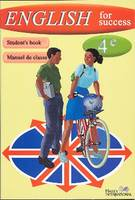 English for success 4ème, student's book