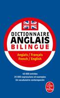 Dictionnaire anglais bilingue, Angllais/Français- French/English