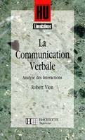 La Communication verbale, analyse des interactions