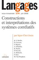 LANGAGES N  174 (2/2009) CONSTRUCTIONS ET INTERPRETATIONS DES SYSTEMES CORRELATIFS