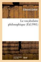 Le vocabulaire philosophique