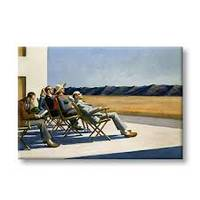 HOPPER PEOPLE IN THE SUN, MAGNET 5.4*7.9 cm