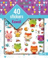 40 stickers Kawaii - pochette d'autocollants plastifiés