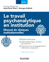 Le travail psychanalytique en institution, Manuel de cliniques institutionnelles