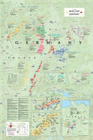 Affiche Wine Map of Germany